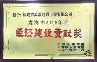 2018龙海市经济建设贡献奖